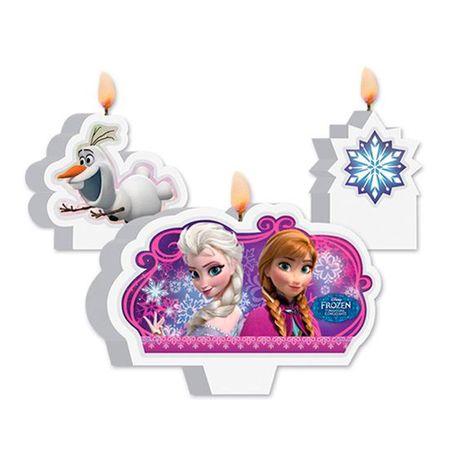 Kit de Velas Frozen - 03 Unidades