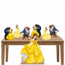 Kit Decoração de Festa Totem e Display 6pçs - a Bela e a Fera