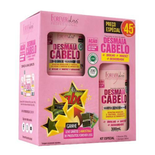 Kit Desmaia Cabelo Forever Liss ( Shampoo 300ml + Máscara 200g )
