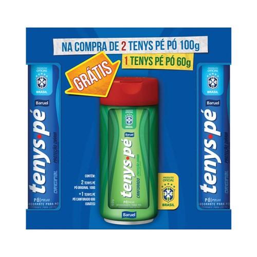 Kit Desodorantes Tenys Pé Original 100g C/2un Grátis 1 Canforado 60g