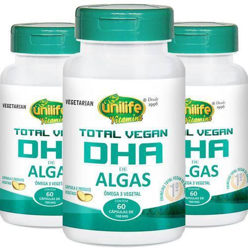 Kit 3 Dha Total Vegan Unilife 60 Cápsulas