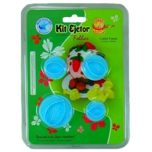 Kit Ejetor de Massa Folhas com 4 Peças Blue Star