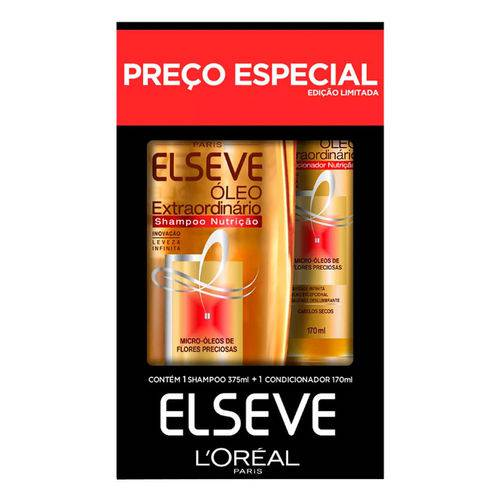 Kit Elseve Shampoo Oleo Extraordinario 375ml + Condicionador 170ml