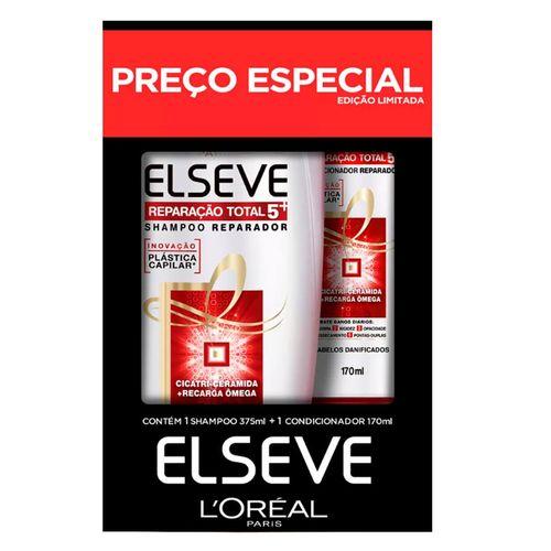 Kit Elseve Shampoo Reparação Total 5 375ml + Condicionador 170ml