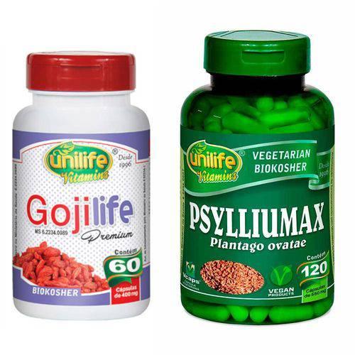 Kit Emagrecedor Psylliumax e Goji Life Premium Unilife