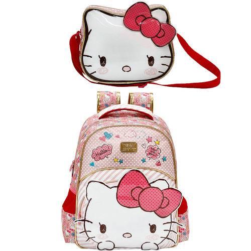 Kit Escolar Mochila 16 + Lancheira Xeryus Hello Kitty Lovely Kitty (7902+7904)