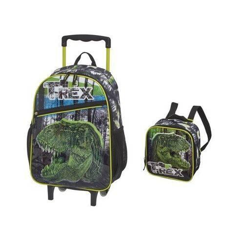 Kit Escolar Pack me T-rex Mochilete e Lancheira - Pacific