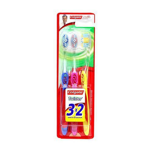 Kit Escova Dental Colgate Twister Macia Leve 3 Pague 2
