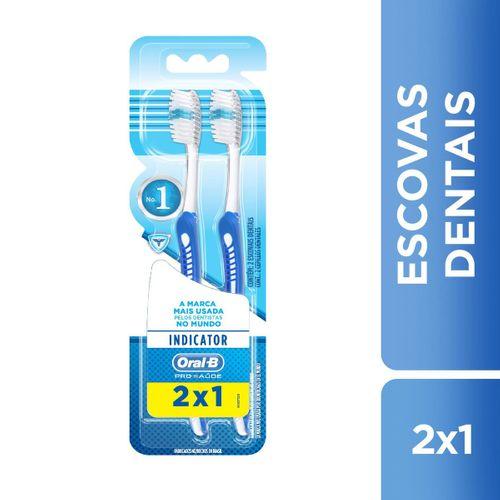 Kit Escova Dental Oral-B Indicator Plus 30 2 Unidades