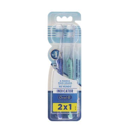 Kit Escova Dental Oral-B Indicator Plus 35 Macia 2 Unidades