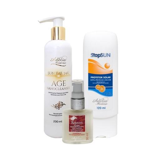 Kit Facial Antiaging e Prevenção de Rugas 3 - Produtos