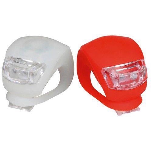 Kit Farol Silicone 2 Leds Atrio BI050 Branco/Vermelho - Multilaser