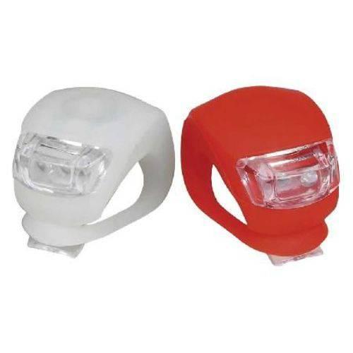 Kit Farol Silicone 2 Leds Dianteiro+traseiro Branco/vermelho Bi050