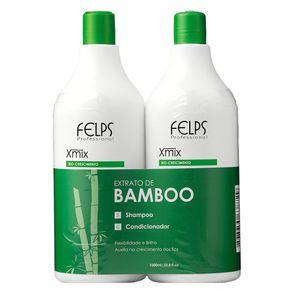 Kit Felps Profissional XMix Extrato de Bamboo (Shampoo e Condicionador) Conjunto