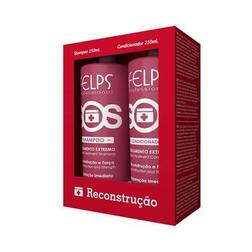 Kit Felps Reconstrução S.O.S Shampoo + Condicionador 1L