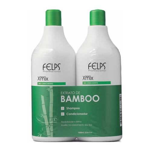 Kit Felps Xmix Bamboo Shampoo 1000ml+Condicionador 1000ml