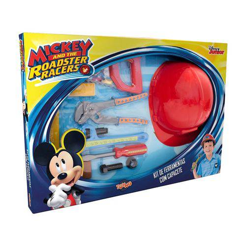 Kit Ferramentas com Capacete Mickey Toyng Ref 30876