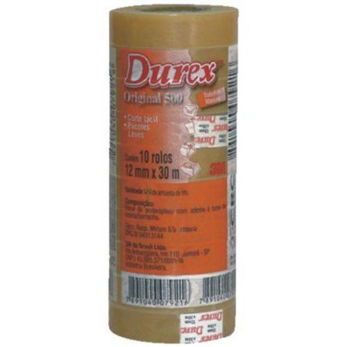 Kit Fita Durex 3m Novo - com 10 Unidades