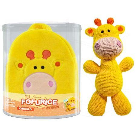 Kit Fofurice Amigurumi com Mochila - Círculo Girafa Mel