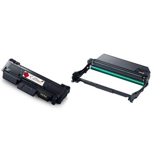 Kit Fotocondutor Similar MLT-R116 + Toner MLT-D116L 116L Compatível Samsung Xpress SL-M2625D M2626 M2626D M2675 M2676N M2676FH M2825ND M2825DW SL-M2826 M2826ND M2875F M2875FD M2876NH