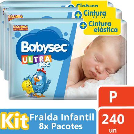 Kit Fralda Babysec Galinha Pintadinha Ultra Jumbo P 300 Unidades