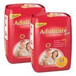 Kit Fralda Geriátrica Adultcare M 10 Tiras 2 Pacotes