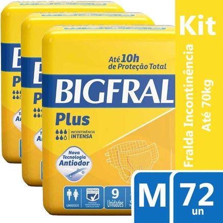 Kit Fralda Geriátrica Bigfral Plus M 72 Unidades