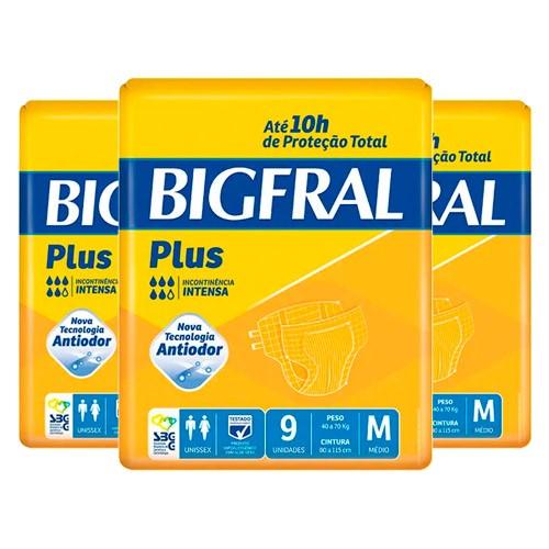 Kit Fralda Geriátrica Bigfral Plus Média 27 Unidades