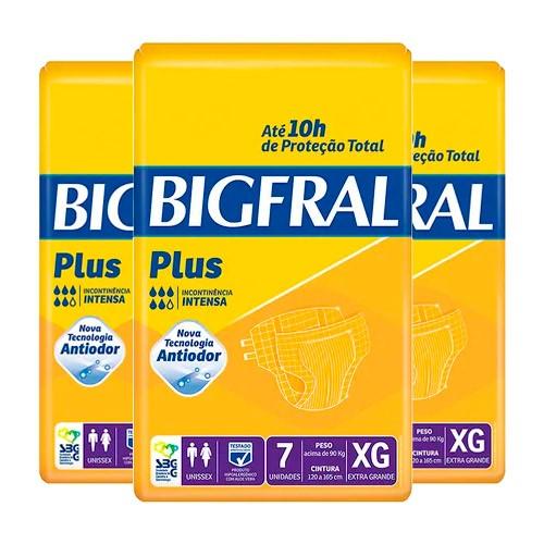 Kit Fralda Geriátrica Bigfral Plus XG 21 Unidades