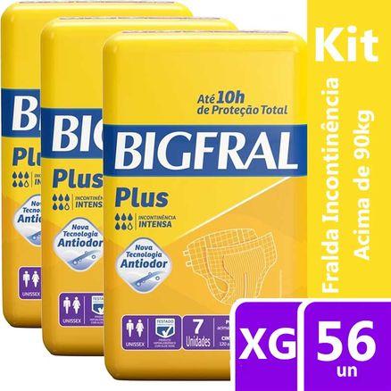 Kit Fralda Geriátrica Bigfral Plus XG 56 Unidades