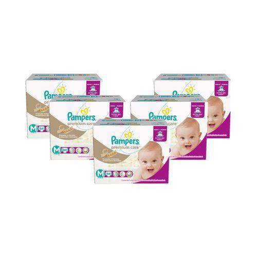 KIt Fralda Pampers Premium Care Tamanho M com 420 Unidades