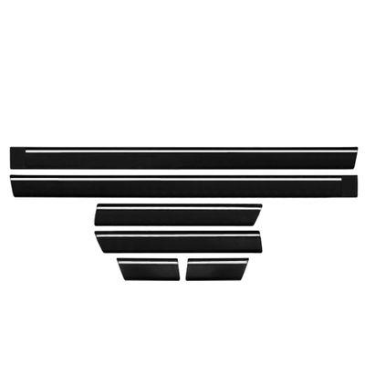 Kit Friso Lateral Passat 2 Portas 1974 a 1988 com Filete Branco