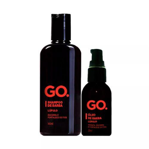 Kit Go. Lúpulo Shampoo 140ml + Óleo para Barba 25ml
