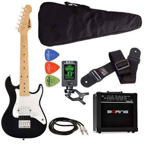 Kit Guitarra Phoenix Strato Juvenil 3/4 Preta Ist1-bk G30