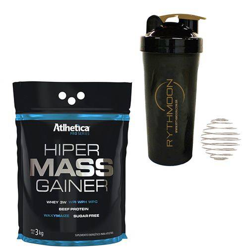 Kit Hiper Massa Gainer Chocolate + Coqueteleira 600ml com Mola