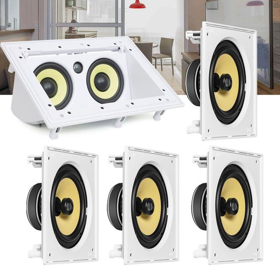 Kit Home Theater 5.0 JBL Caixa de Embutir CI8S + Canal Central CI55RA Residencial Gesso