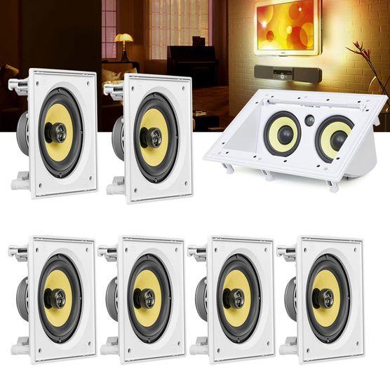 Kit Home Theater 7.0 Jbl Caixa de Embutir Ci6s + Canal Central Ci55ra Residencial Gesso