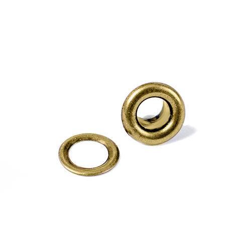 Kit Ilhóses com Arruela Wer025 Bronze com 60 Peças Eyelet Washer