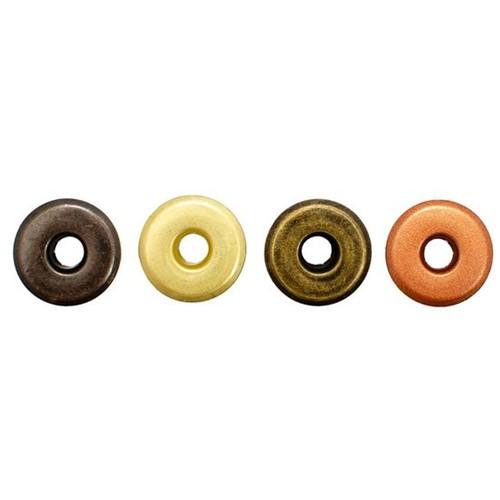 "Kit Ilhoses WER064 3/16"" Retrô com 4 Tons 40 Peças Wide Eyelets"