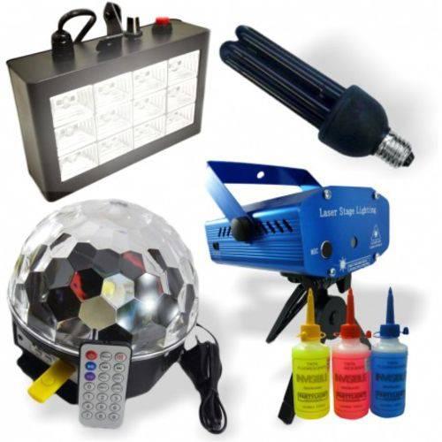 Kit Iluminação FESTA Super 5x1 LASER Magic Ball - 12031