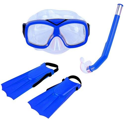 Kit Infantil de Mergulho e Snorkel Azul Divers - Nautika 113400