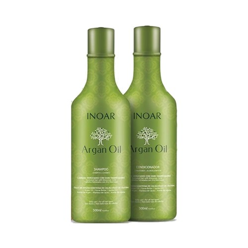 Kit Inoar Óleo de Argan Shampoo + Condicionador 500ml