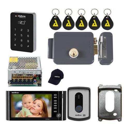 Kit Interfone Residencial com Camera Abre Senha Intelbras