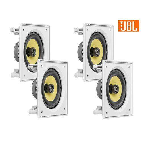 Kit JBL Caixa Som Ambiente Arandela Branca 4 CI6S - 480 WRMS