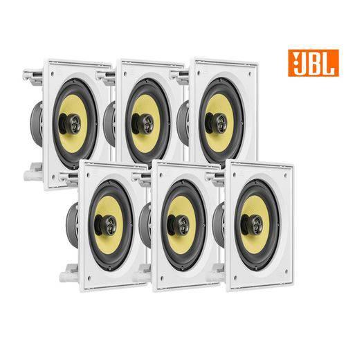 Kit JBL Caixa Som Ambiente Arandela Branca 6 CI6S - 720 WRMS