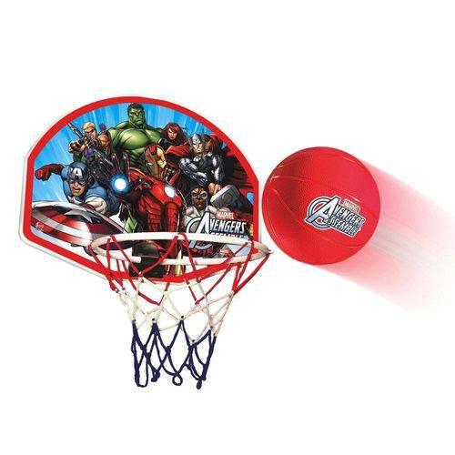 Kit Jogo Tabela de Basquete Infantil Vingadores Avengers Completa com Bola