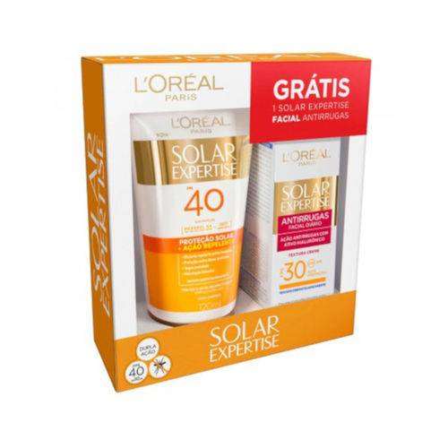 Kit L'oreal Loção Repelente Fps40 120ml + Antirrugas Fps 30