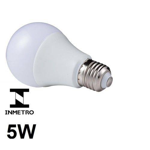 Lâmpada Led Bulbo E27 Bivolt 6500k Branco Frio 5w