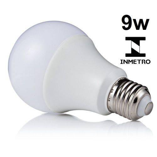 Lâmpada Led Bulbo E27 Bivolt 3000k Branco Quente 9w