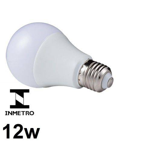 Lâmpada Led Bulbo E27 Bivolt 3000k Branco Quente 12w